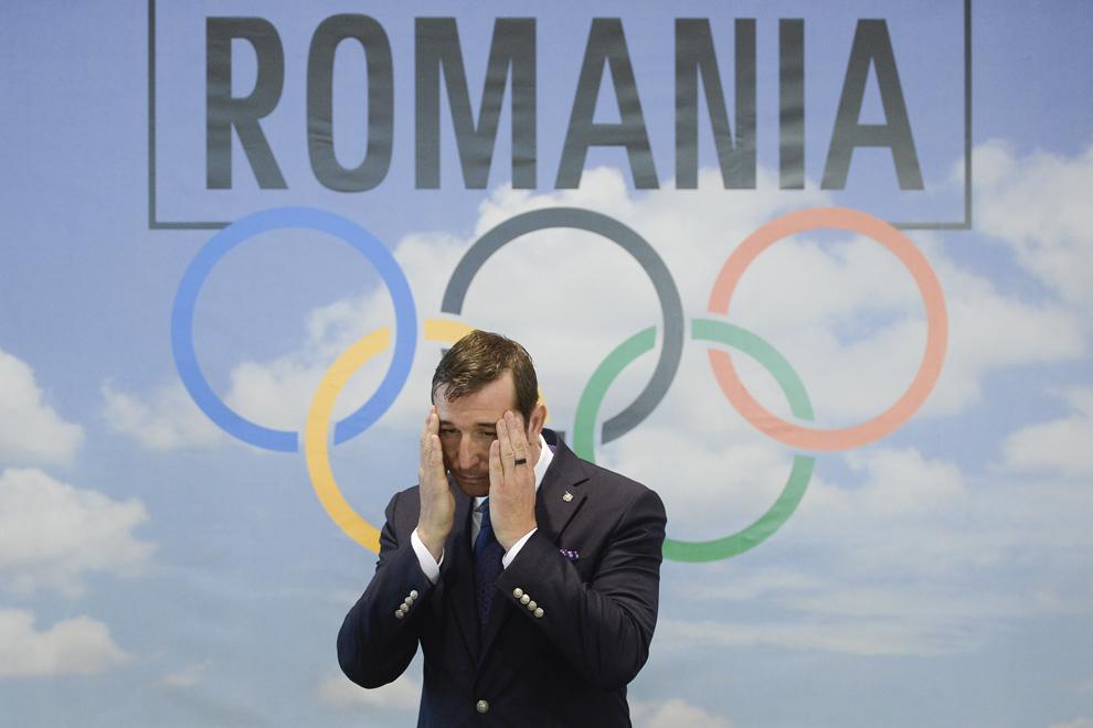 Preşedintele COSR, Alin Petrache, participă la o conferinţă de presă, în cadrul căreia se evaluează potenţialul olimpic al României precum şi priorităţile în pregătirea sportivilor, în vederea participării la Jocurile Olimpice de la Rio de Janeiro din 2016, în Izvorani, vineri, 14 noiembrie 2014.