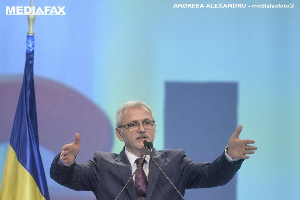 Presedintele PSD Liviu Dragnea sustine un discurs, sambata, 10 martie 2018, la Sala Palatului din Capitala, in timpul Congresului Extraordinar al Partidului Social Democrat (PSD).
