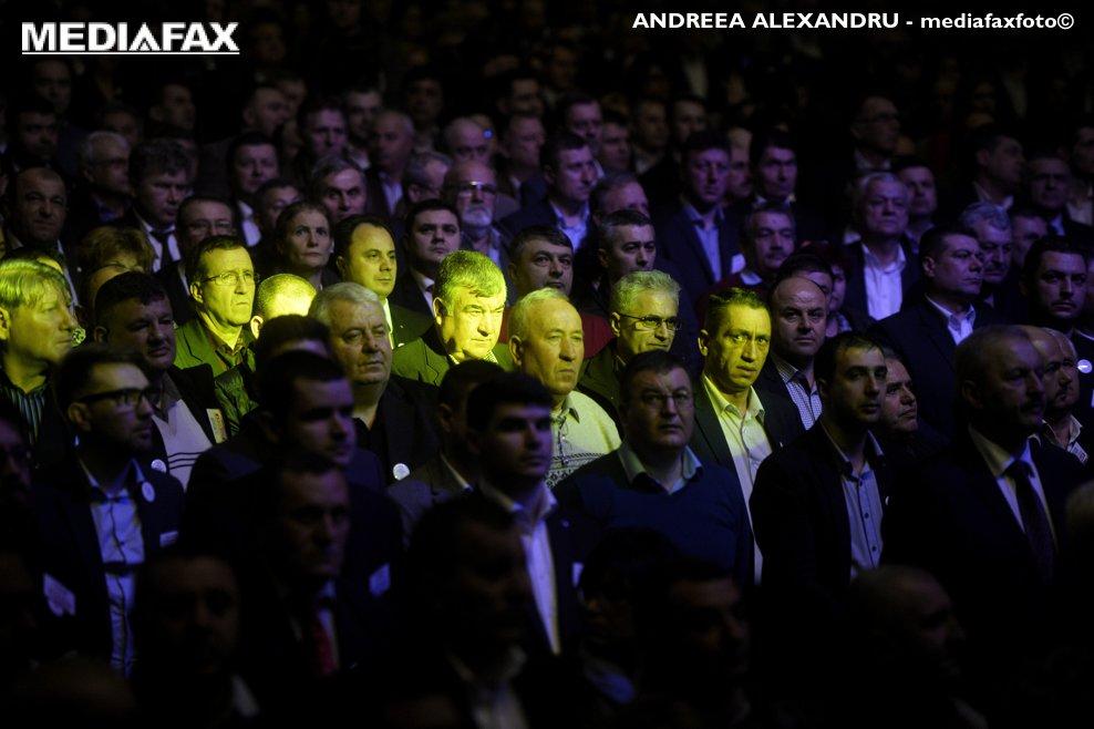 Membri PSD participa, sambata, 10 martie 2018, la Sala Palatului din Capitala, la Congresului Extraordinar al Partidului Social Democrat (PSD).