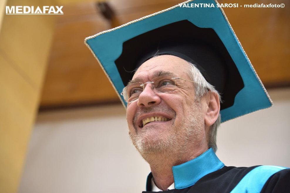 Actorului Marcel Iures primeste titlul de Doctor Honoris Causa la Universitatea de Vest Timisoara, luni, 5 februarie 2018.