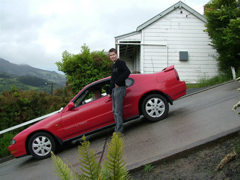 Cea mai inclinata strada din lume - Strada Baldwin, Noua Zeelanda