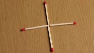 9 din 10 oameni nu ştiu răspunsul! Cum poţi forma un pătrat mutând un singur băţ de chibrit