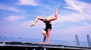 Cât de bine arăta fosta logodnică a lui Felix Baumgartner! Gimnasta de performanţă, în ipostaze inedite- FOTO