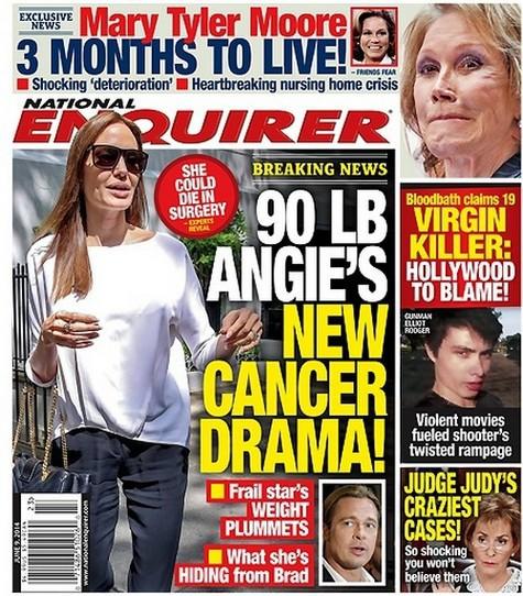 Angelina Jolie pe coperta National Enquirer