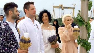 Jojo şi Paul Ipate, în postura de naşi. Octavian Strunilă, nuntă pe plajă - FOTO