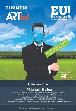 """Spectacolul de teatru """"EU nu contez!"""" pe scena CinemaPRO ,Joi 27 Februarie 2020 incepand cu ora 19:00."""