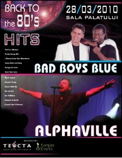 Alphaville si Bad Boys Blue ne readuc atmosfera anilor '80