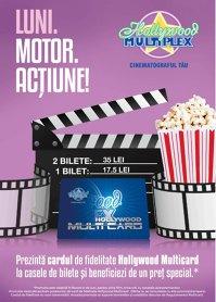 In fiecare LUNI, cu Hollywood Multicard ai un pret special!