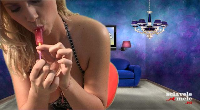 Katy suge acadele cu poftă