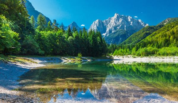 Vale de munte tipică Parcului Naţional Triglav