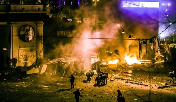 Violenţe de stradă în Kiev.