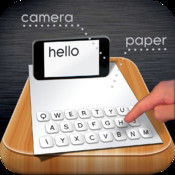 Paper Keyboard: Type on a real piece of paper