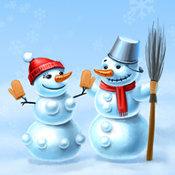 Winter. Snowmen
