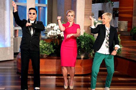 Psy, Spears, DeGeneres