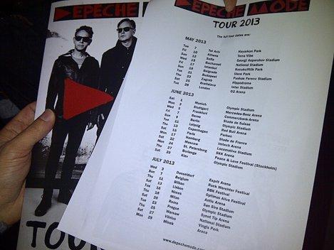 Concert Depeche Mode la București, pe 15 mai 2013