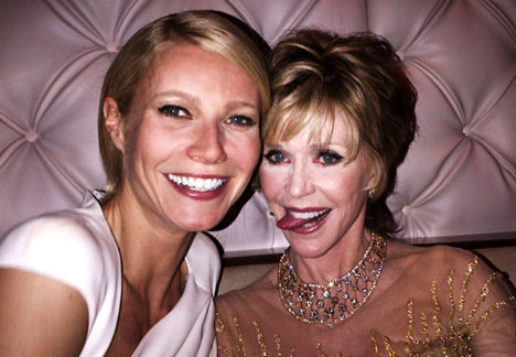 Gwyneth alături de Jane Fonda