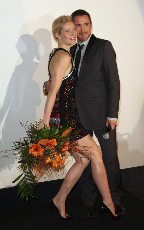 Gwyneth și Robert Downey Jr.