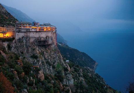 Muntele Athos... noaptea