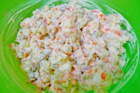 salată boeuf cu somon afumat
