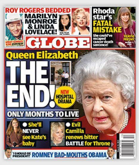 Regina Elisabeta pe moarte