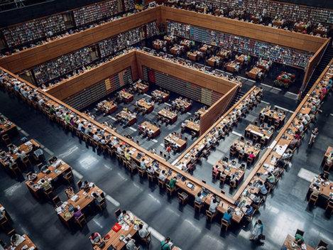 Imagini spectaculoase cu Biblioteca Naţională din China (Galerie Foto)