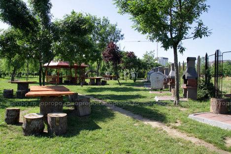 Locul de picnic din parc se intinde pe 5.000 mp si are multa verdeata