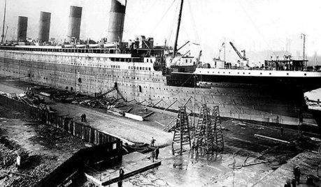 Nava Titanic incepea sa prinda contur pe santierul naval