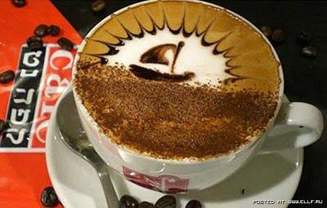 Opere de arta intr-o ceasca de cafea (poze)