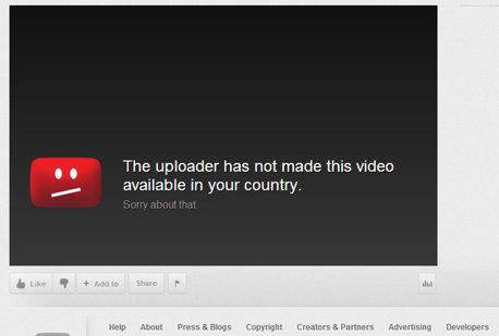 Interzicerea accesului la clipurile de pe Youtube