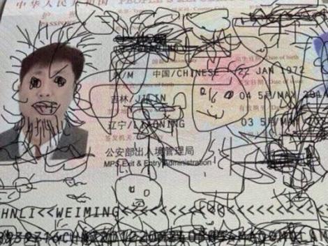 Ce se întâmplă când un paşaport cade pe mâinile unui copil