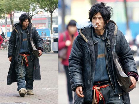 Un vagabond chinez, rechemat in sanul familiei datorita look-ului sau sexy