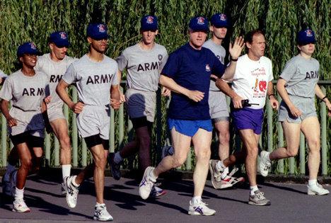 Preşedinte alergând