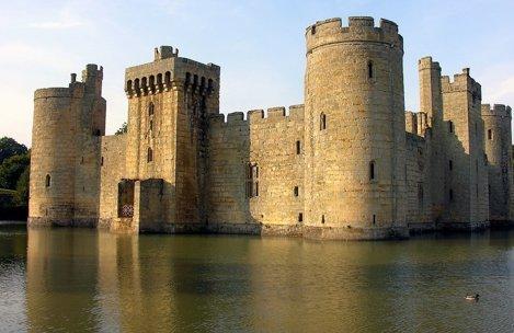 Castelul Bodiam în East Sussex, Anglia
