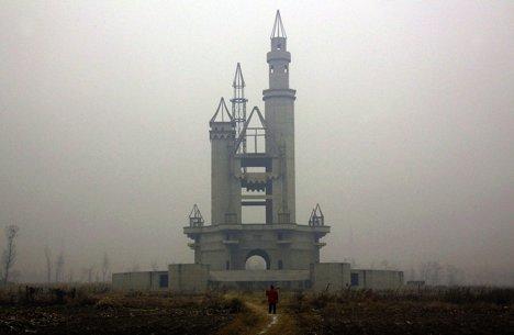Parcul de distracții Wonderland abandonat, dinafara Beijingului, China