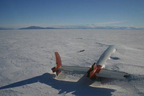 Rămășițele Pegasus din McMurdo Sound, Antarctica