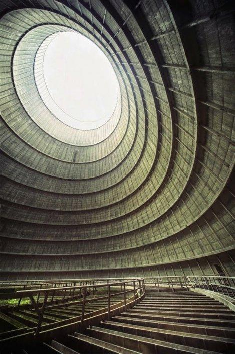 Turn de răcire pentru o instalație de electricitate abandonat