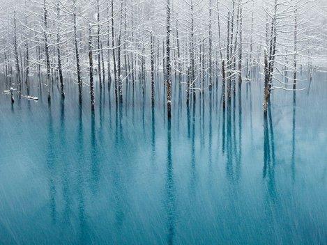 Blue Pond, Hokkaido, Japonia