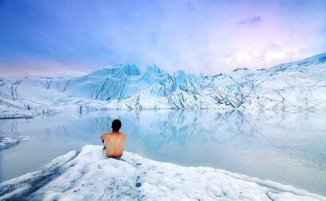 ghețarul Matanuska din Alaska
