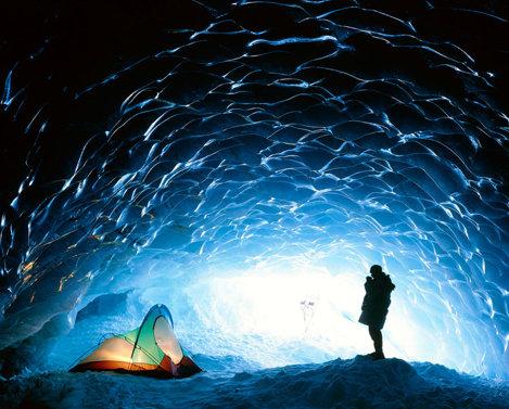 peșteră de gheață din Canada