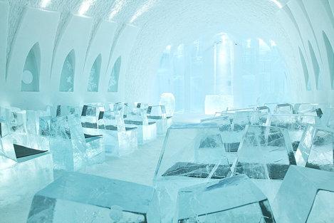 Interiorul Ice Hotel