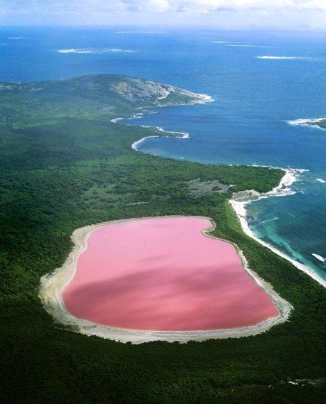 Şi Lacul Hillier, Australia