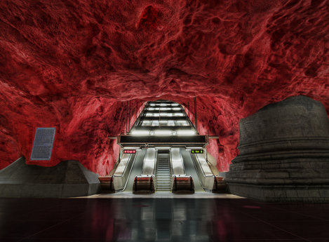Metroul din Stockholm, Suedia