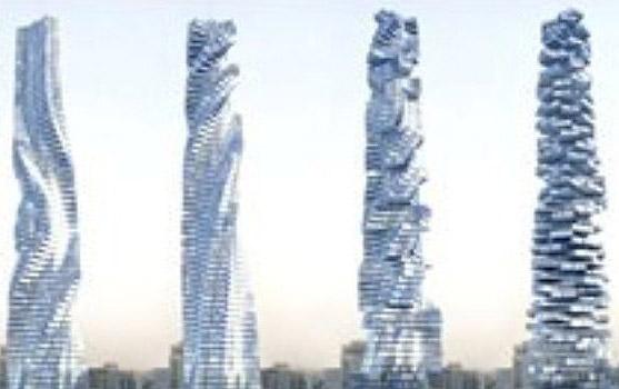 Floarea soarelui sub forma de bloc turn, in Dubai