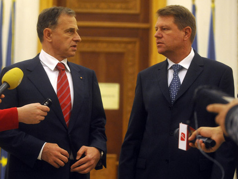 Mircea Geoana si Klaus Iohannis