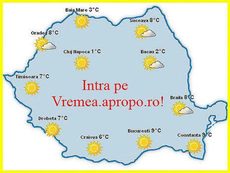 Click pe vremea.apropo.ro, pentru prognoza meteo completa!