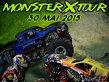 Monster X Tour ajunge la Bucureşti, pe 30 mai 2015