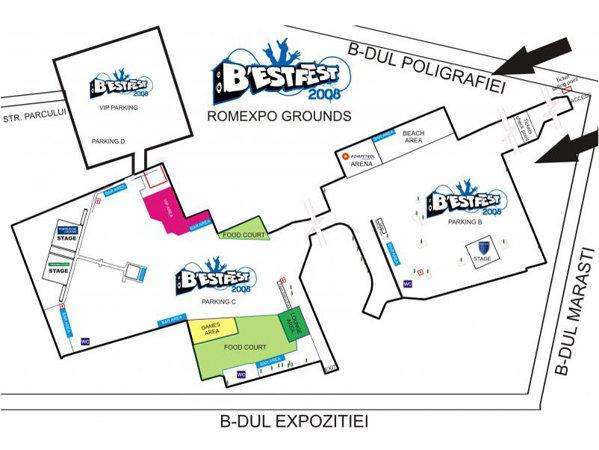 Schema locatiei de la B'estfest 2008