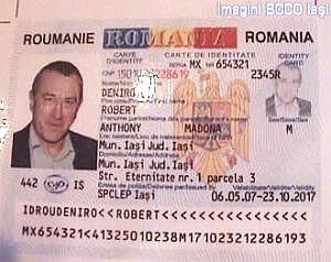 Robert De Niro, infractor moldovean cu acte in regula