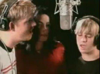 Aaron si Nick Carter alaturi de MJ