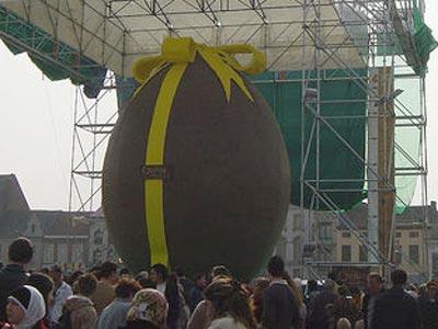 Cel mai mare ou de Paste este din ciocolata